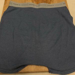 Hanes Underwear & Socks - Men's Medium Blue Hanes Boxer Briefs, Second Owner
